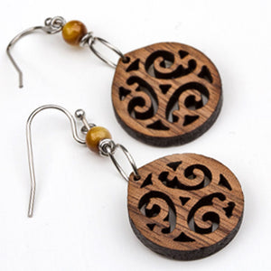 Walnut Dangle Earrings