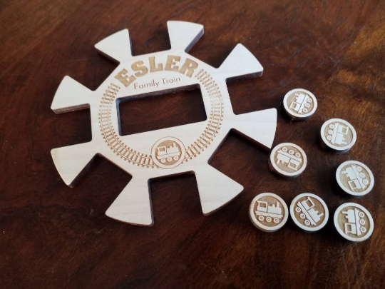 Personalized Train Hub  Mexican Train
