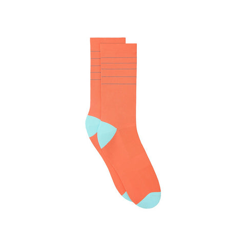 Reflective Glitter Sock - Peach Echo / Limpet Shell