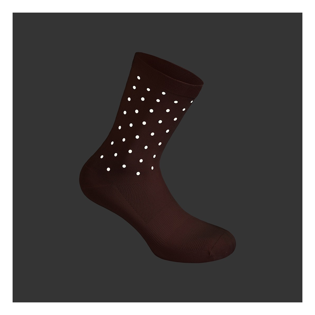 Reflective Crossing Dots Socks
