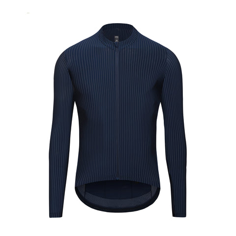 Pinstripe Long Sleeve Jersey / Black