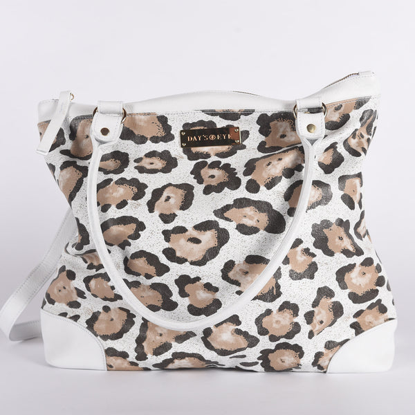 Leather Leopard Print Handbag