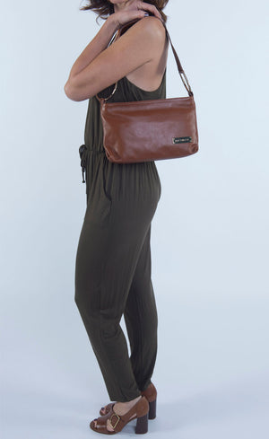Maximiliana Wide Strap Clutch and Crossbody