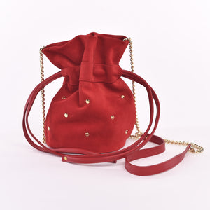 Flamenco Suede Mini Drawstring