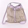 Barred Feather Drawstring Convertible Handbag