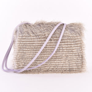 Barred Feather Trapezoid Convertible Handbag