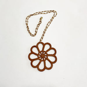 Day's Eye Leather Necklace
