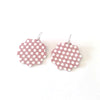 Checkered Leather Earrings and Necklace Collection