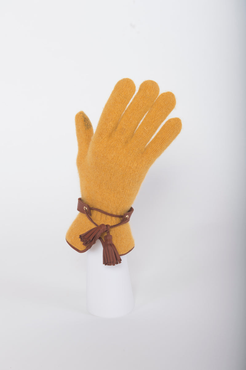 Touch Screen Gloves with Tassel Trim