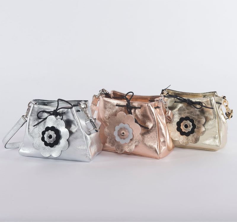 Metallic Crossbody Pouch Convertible to Fanny Pack