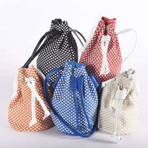 Checkered Leather Drawstring for Girls