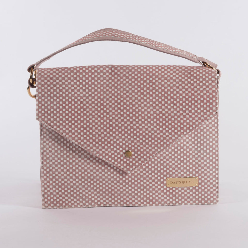 Checkered Convertible Laptop Handbag