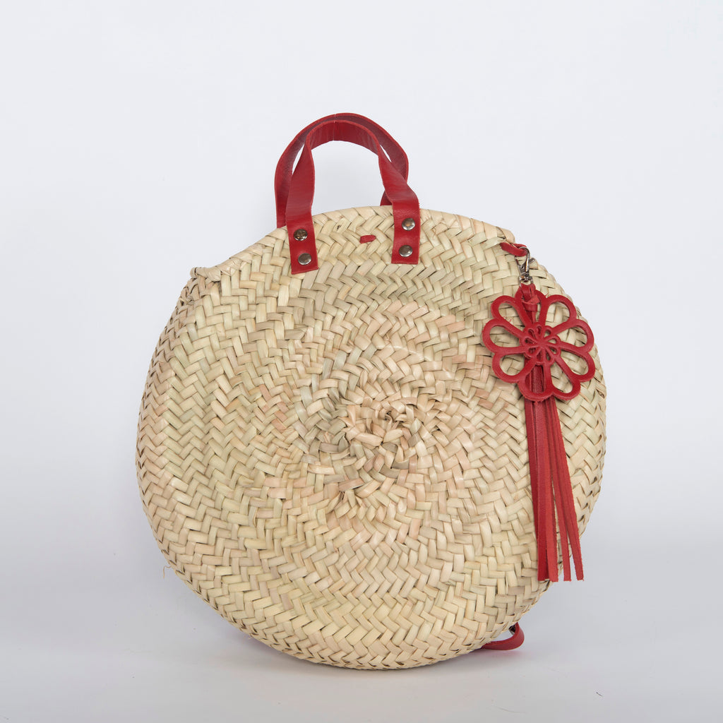 Straw Round Backpack
