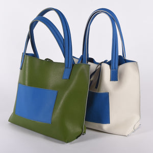 Reversible Leather Tote