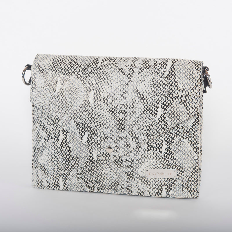Snake Print Convertible Laptop Handbag