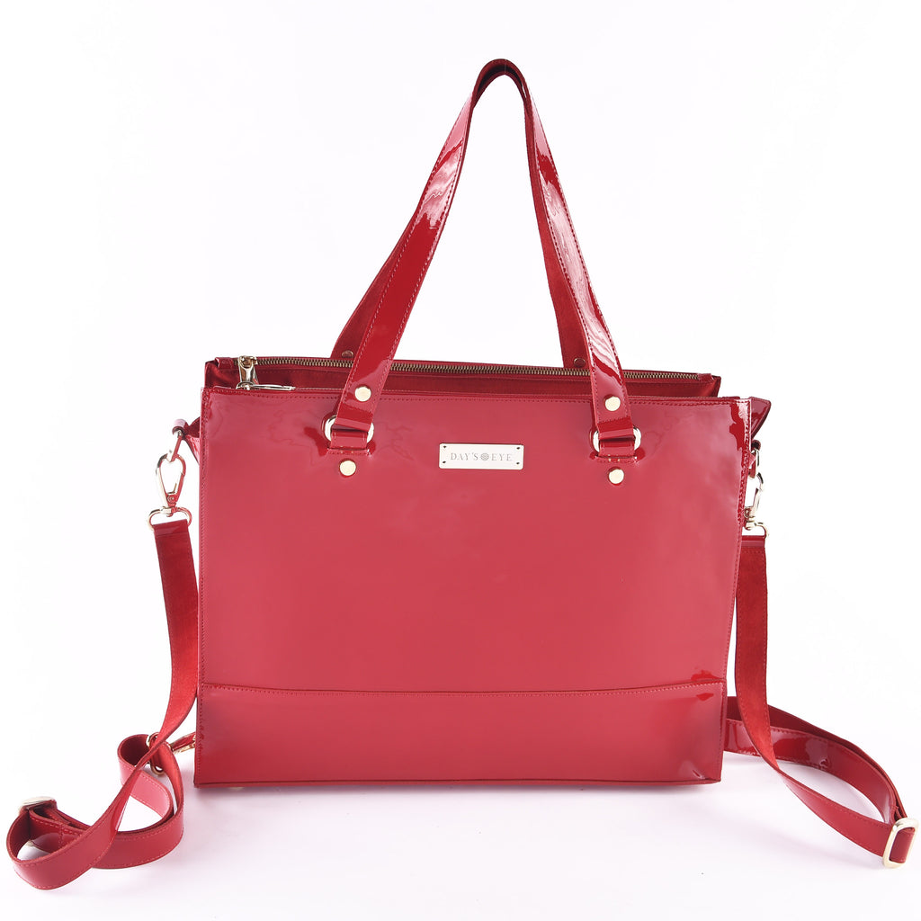 Patent Leather  Deluxe Convertible Handbag: Shoulder, Hand, Cross and Backpack