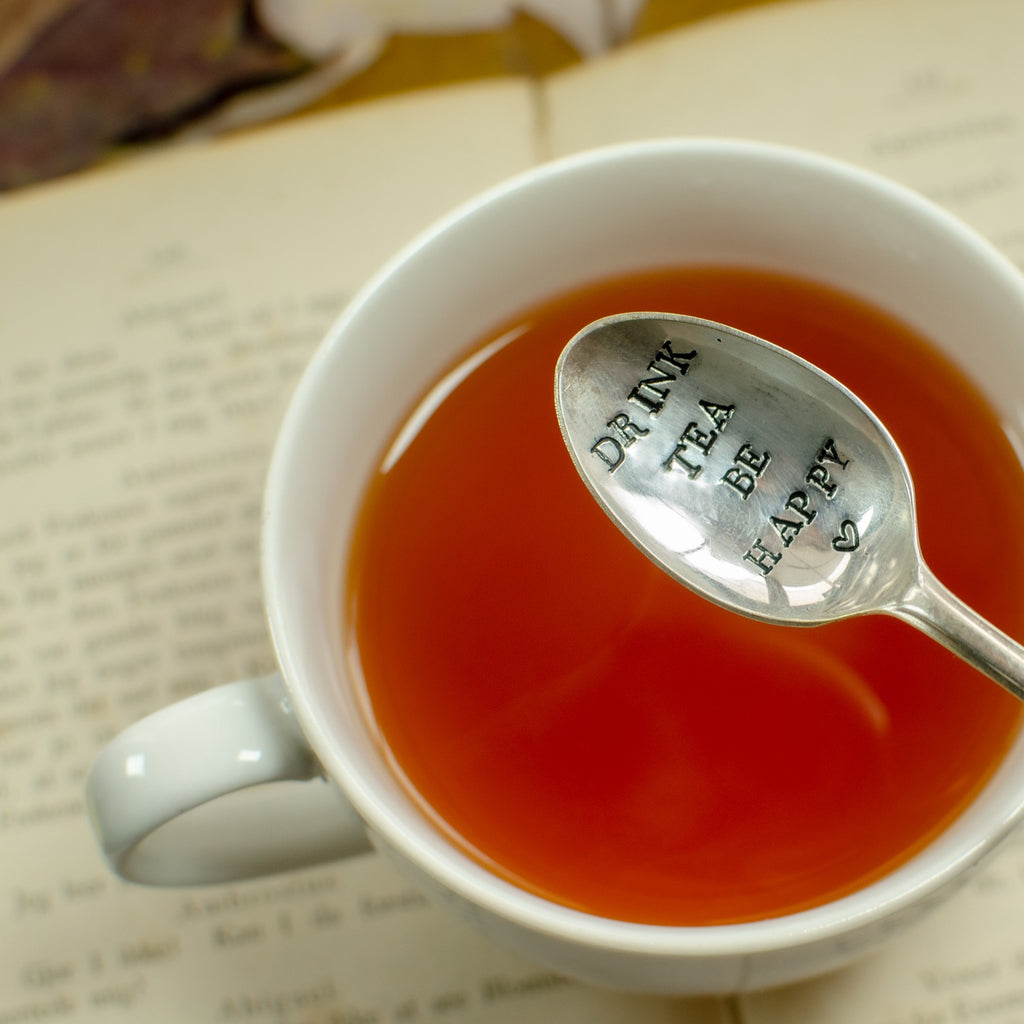 """Drink Tea. Be Happy"" Teaspoons"
