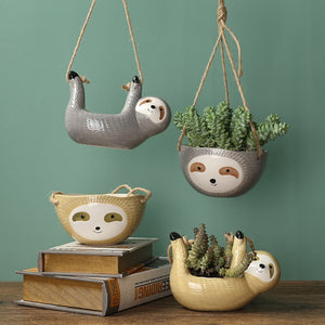Hang Loose Sloth Planters