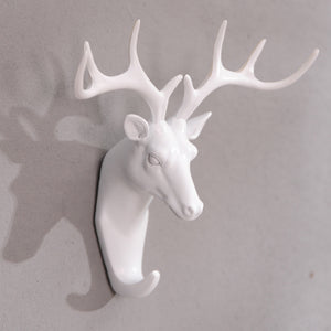 Muted-Color Deer Wall Hooks