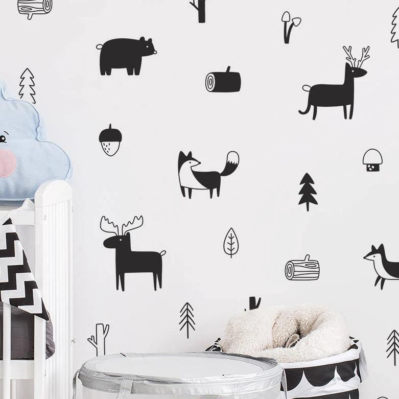 Woodland Creature Wall Stickers