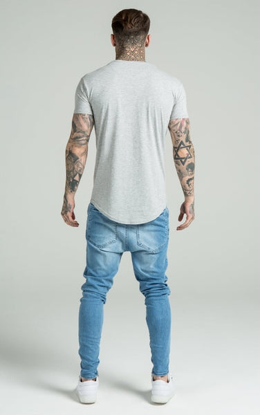 Curved Hem Tee - Grey by SikSilk