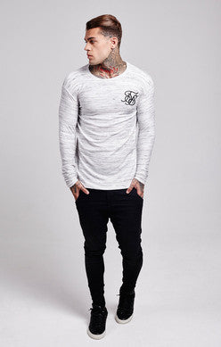 Inject L/S Waffle Tee - White by SikSilk