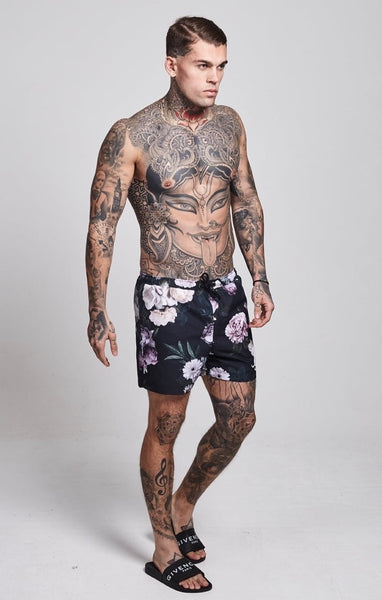 Elastic Waist Short - Dark Garden by SikSilk
