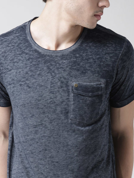Navy Burn Out Tee by Scotch & Soda
