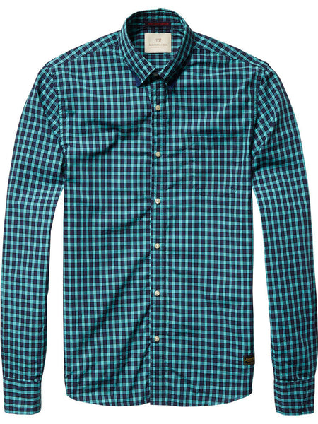 Bright Coloured Check Shirt by Scotch and Soda