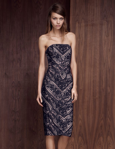 Vivid Strapless dress by Style Stalker