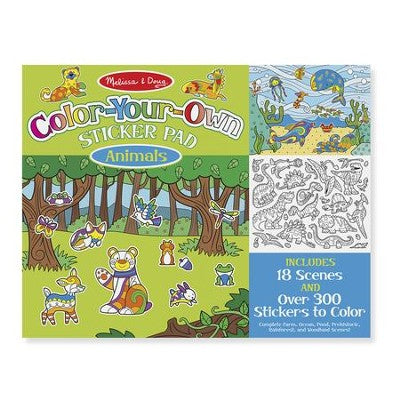 Melissa & Doug Color-Your-Own Sticker Pad Animals
