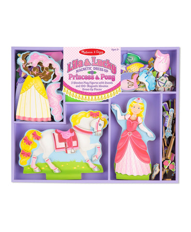 Melissa & Doug Lilia & Lucky Magnetic Dress-up Princess and Pony