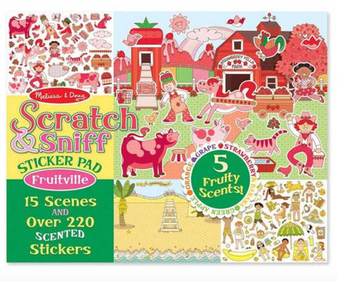 Melissa & Doug Scratch & Sniff Sticker Pad Fruitville