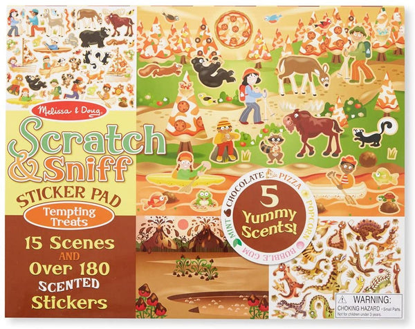 Melissa & Doug Scratch & Sniff Sticker Pad, Tempting Treats