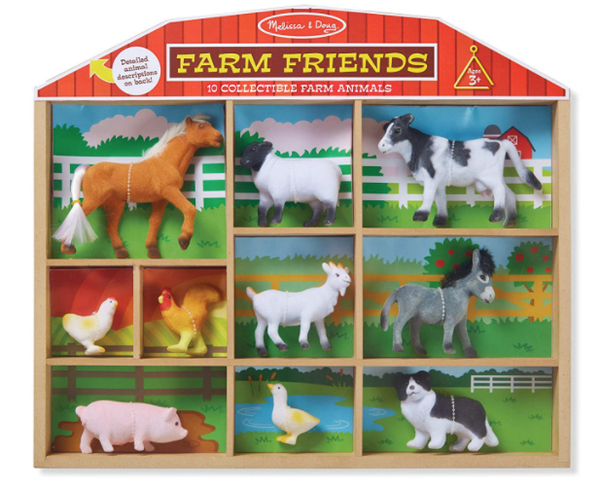 Melissa & Doug 10 Collectible Farm Friends