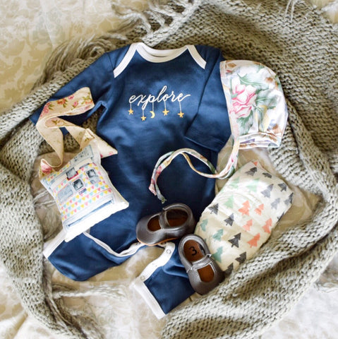 baby clothes flat lay