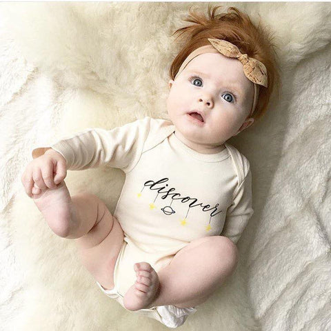 Discover Organic Cotton Long Sleeve Onesie