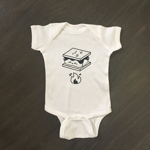 Smores - Cotton Baby Rib Lap Shoulder Onesie