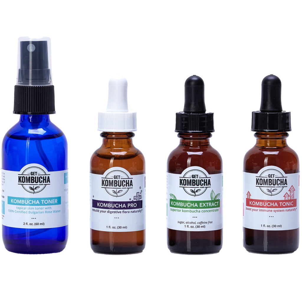 Kombucha Tinctures Sampler 4 Pack
