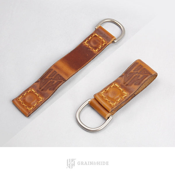Horween English Tan Dublin Magnetic Key Chain