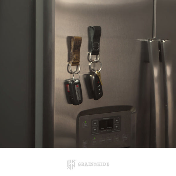 Horween Magnetic Key Chain On Fridge