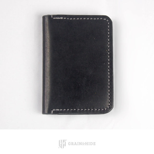Horween Black Dublin Passport Case Closed