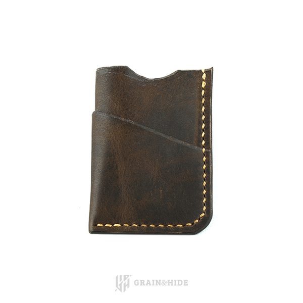 Horween Brown Nut Derby Leather Wallet