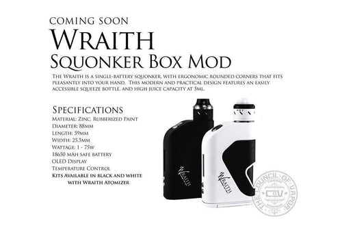 Council of Vapor Wraith 80w Squonker Box Mod-ECC Ecig-City