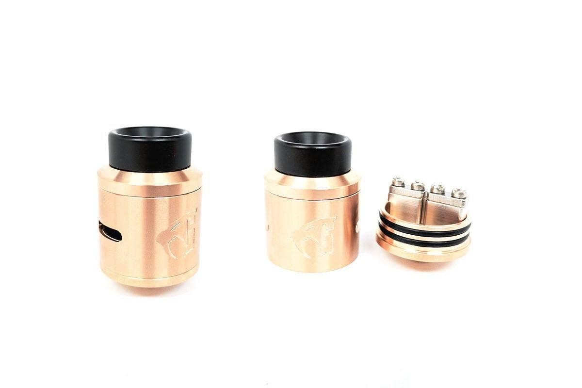 Copper Goon V1.5 RDA with build deck view by 528 Custom | 24mm Rebuildable Atomizer-ECC Ecig-City