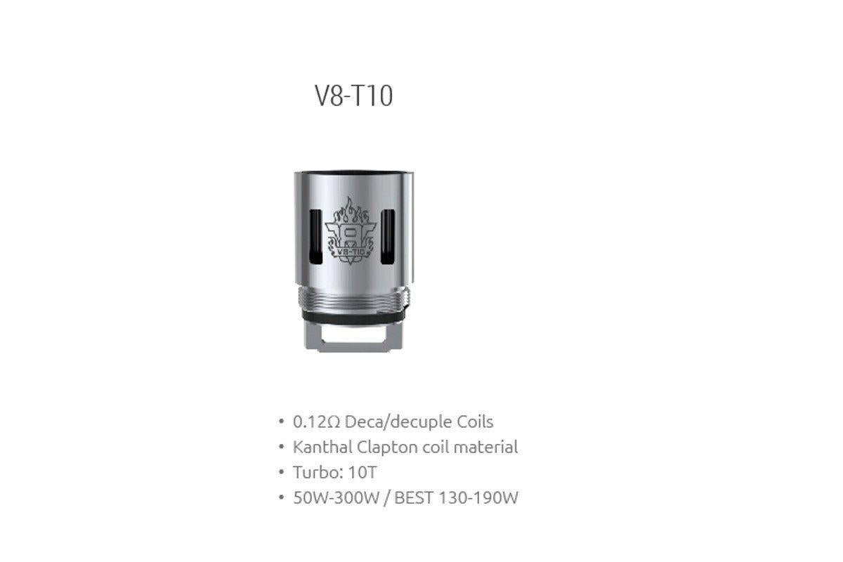 SMOK TFV8 V8-T10 Replacement Coil (Deca -10- Core .12Ω)-ECC Ecig-City