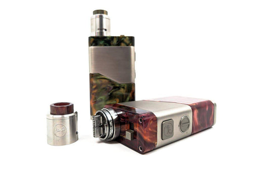 Wismec Luxotic NC Kit w/ Guillotine V2 RDA | VV Mechanical Dual Battery Resin Box Mod (Noisy Cricket V3)-ECC Ecig-City