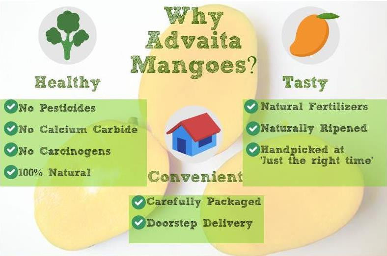 Pesticide Free Advaita Organic Mangoes