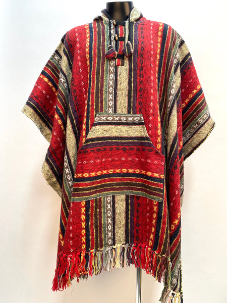 Poncho brushed Gheri cotton