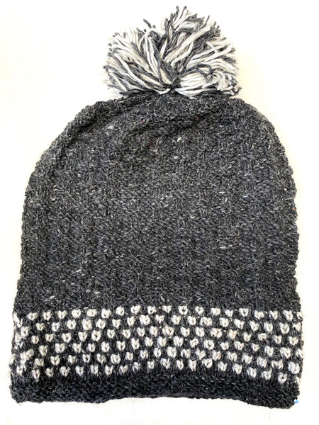 Wool knit winter hat